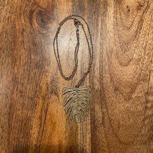 Monstera Leaf Long Necklace